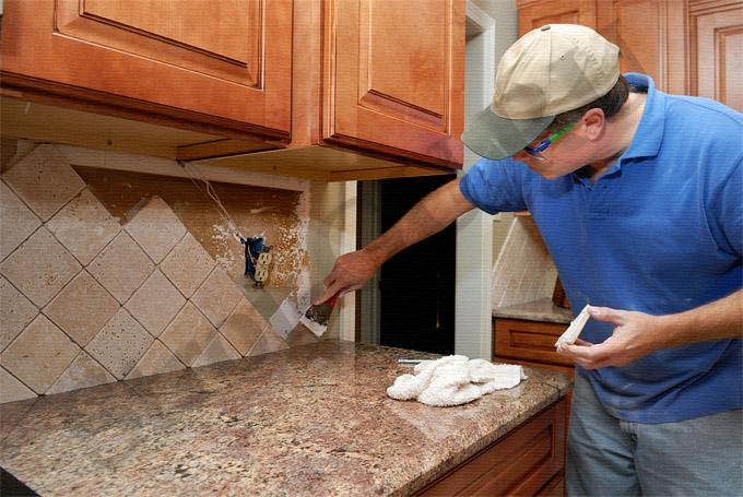 Кухня как сделать стены